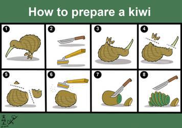 How to prepare a kiwi by SojiOkage