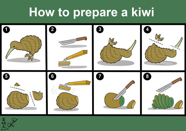 How to prepare a kiwi by SojiOkage