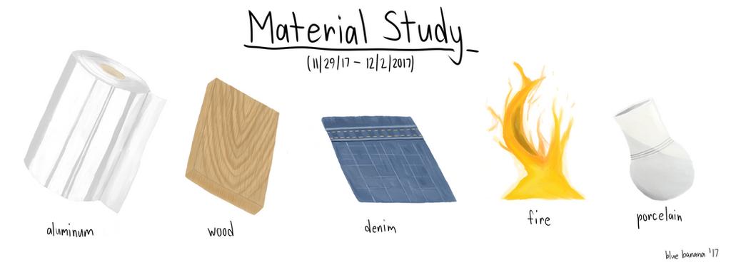 Material Study - 11/29/17 by antiderivativebanana