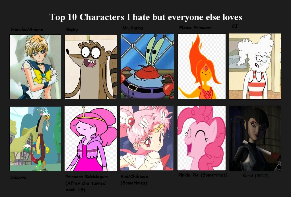 Anime Characters Everyone Hates : Top characters i hate but everyone else loves by