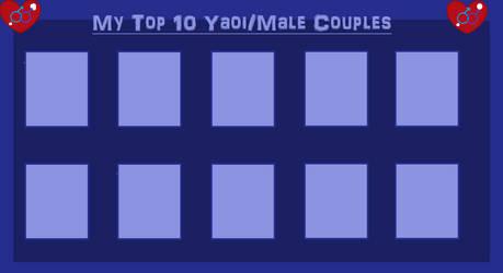 Top 10 Yaoi Couples by MiraculousQueen22