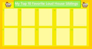 My Top 10 Favorite Loud House Siblings