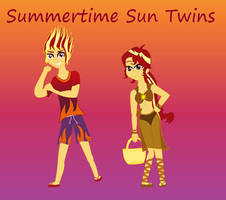 Equestria Kids NG - Summertime Sun Twins by MiraculousQueen22