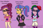 EQG's Fanfic/Comic Idea - Sci Twi's 3 Daughters by AmethystQueen25