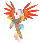 Rainbow Power Silver Quill