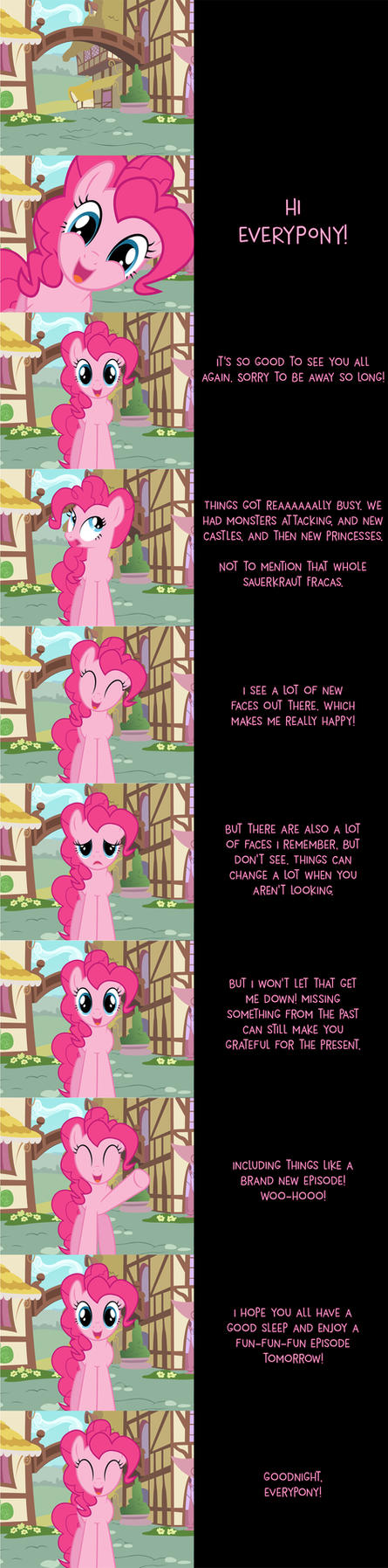 Pinkie Pie Says Goodnight 7-29-2016 by MLP-Silver-Quill