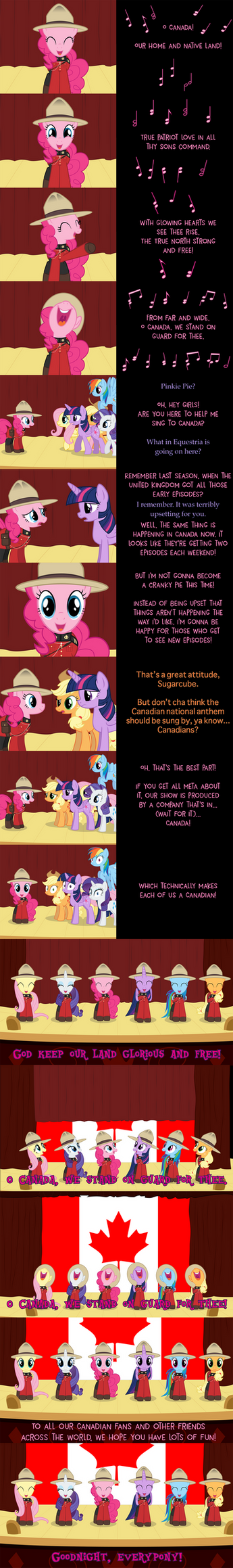 Pinkie Pie Says Goodnight: O Canada by MLP-Silver-Quill