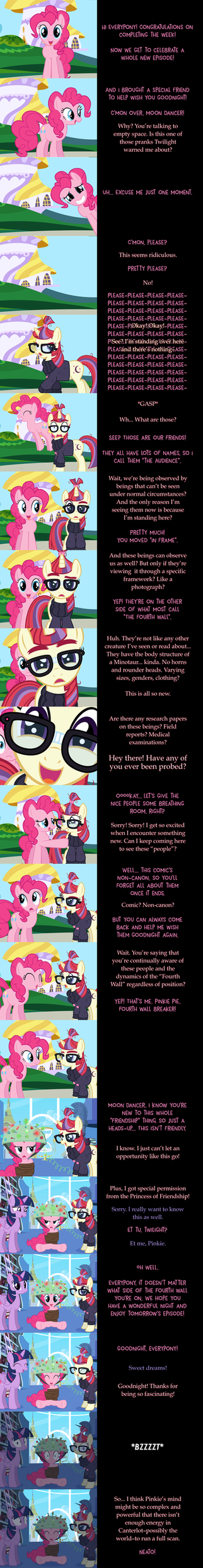 Pinkie Pie Says Goodnight: The Fourth Wall by MLP-Silver-Quill