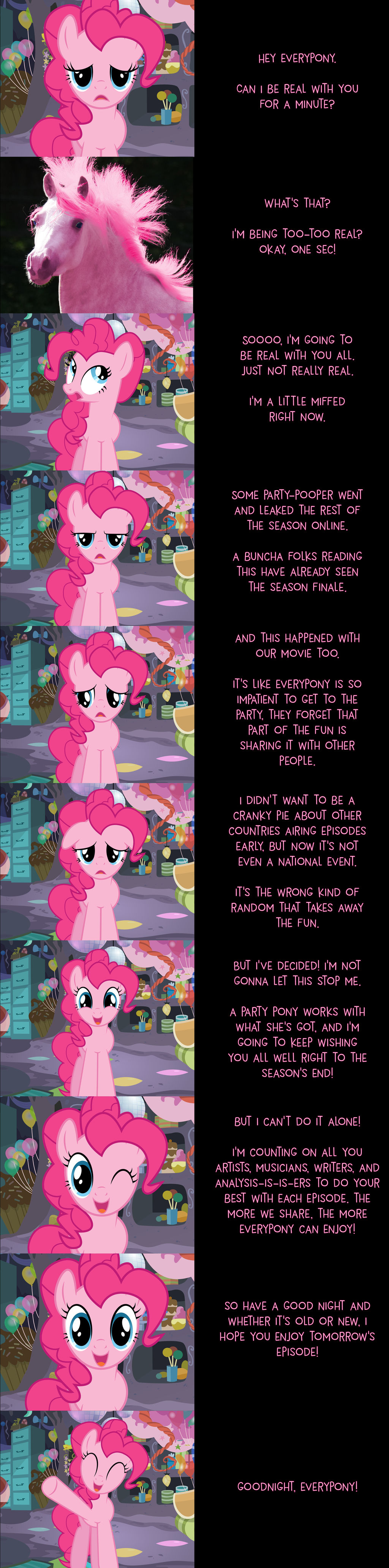 Pinkie Pie Says Goodnight: Being Real