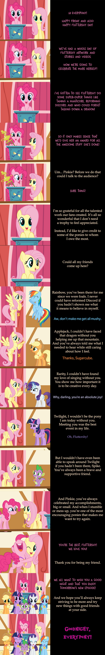 Pinkie Pie Says Goodnight: Best in Shy by MLP-Silver-Quill