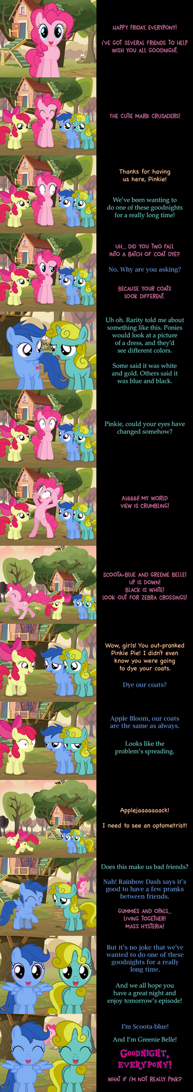 Pinkie Pie Says Goodnight: Color Blinded by MLP-Silver-Quill