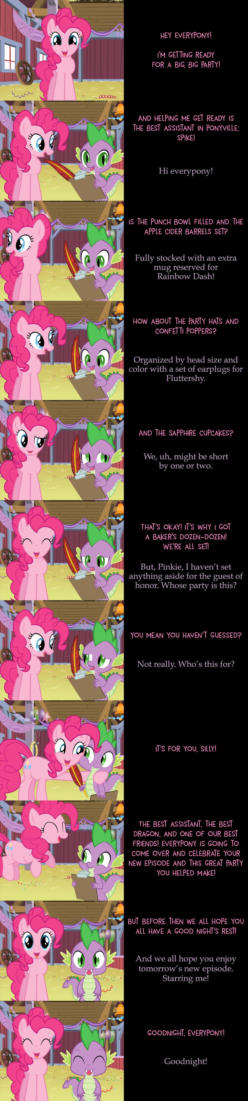 Pinkie Pie Says Goodnight: Prepped