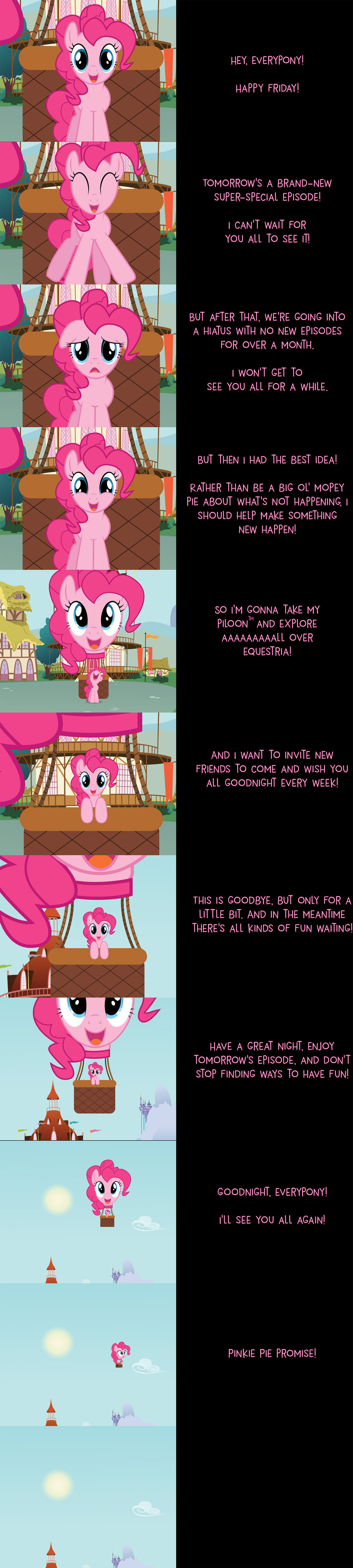 Pinkie Pie Says Goodnight: Hiatus