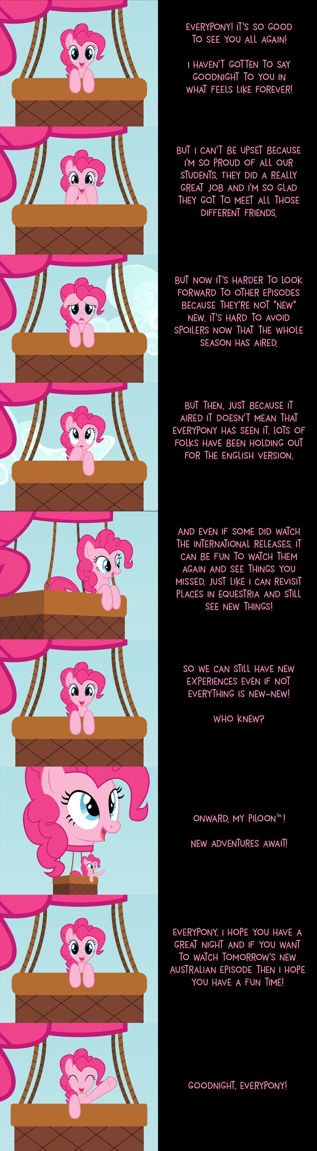 Pinkie Pie Says Goodnight: Onward!