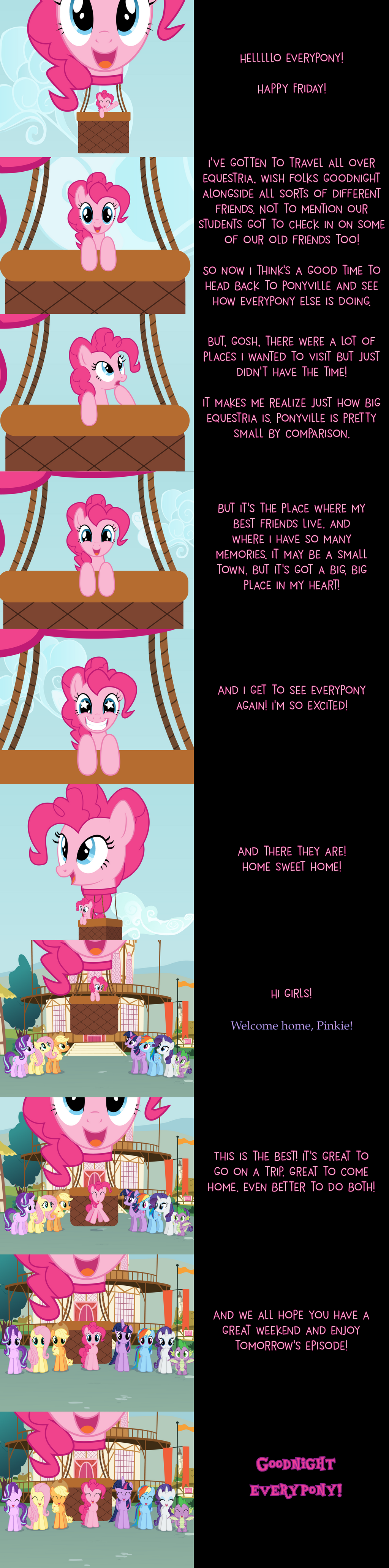 Pinkie Pie Says Goodnight: Homeward Bound