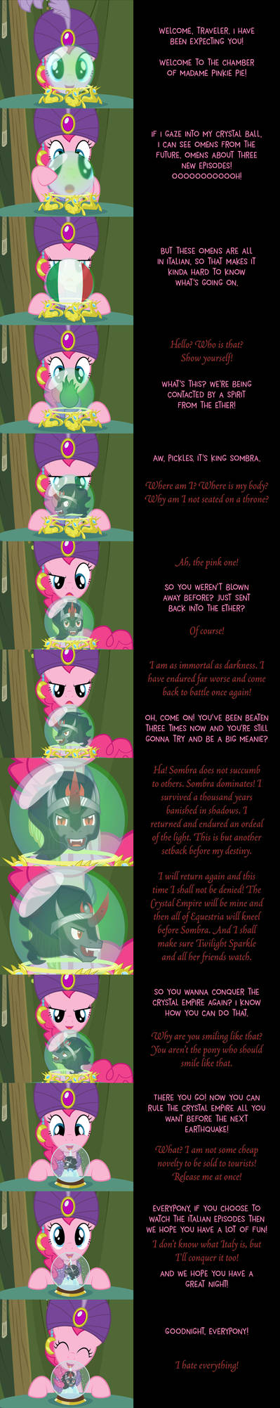 Pinkie Pie Says Goodnight: Wrong Channel by MLP-Silver-Quill