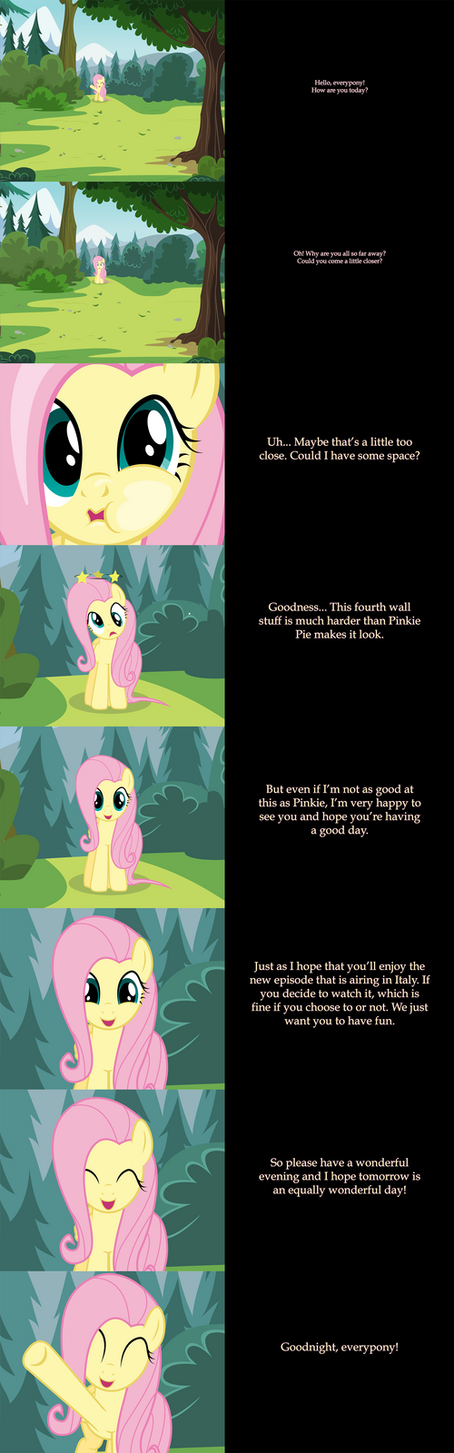 Fluttershy Says Goodnight: 4th Wall