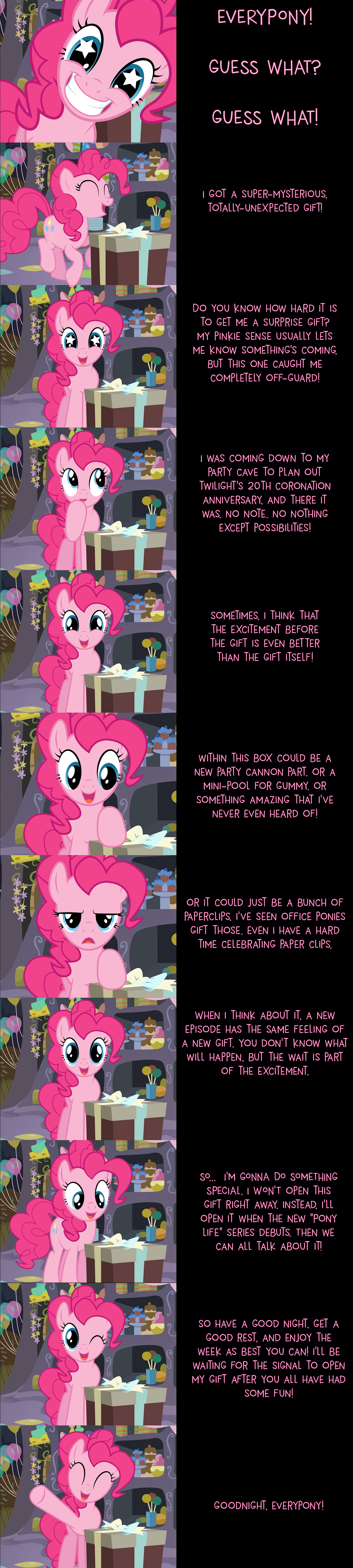 Pinkie Pie Says Goodnight: Schrodinger's Gift