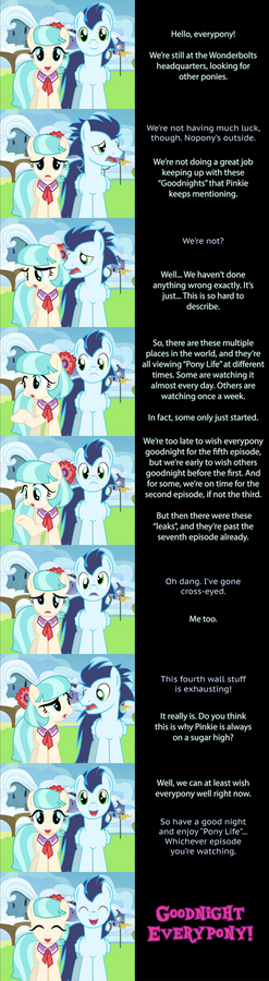 Pinkie Pie Goodnight : 4th Wall Confusion