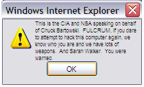 Hacking Chuck's Comp - Error by akemitanaka