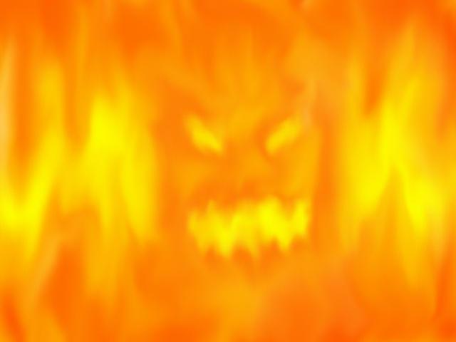Flaming Head by pointvaluezero