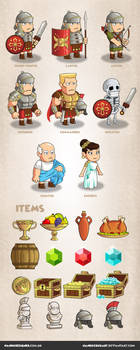 Game Characters - Roman Empire theme by NandoCruzArt