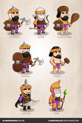 Game Characters - Persian Empire theme by NandoCruzArt