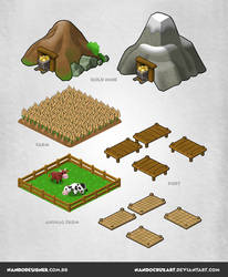 Isometric game assets by NandoCruzArt