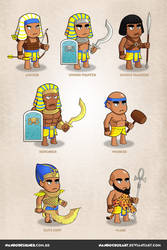 Game Characters - Egyptian Empire theme by NandoCruzArt