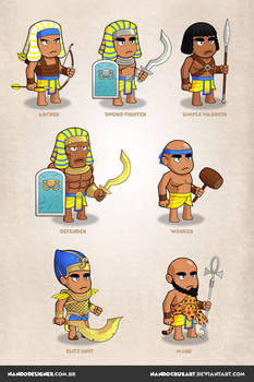 Game Characters - Egyptian Empire theme