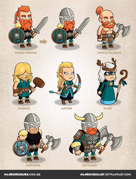 Game Characters - Vikings warriors theme