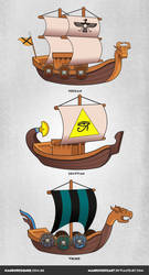 Game assets - ships by NandoCruzArt