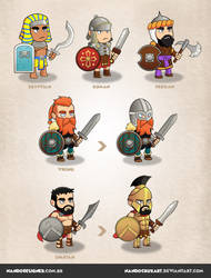 Game characters - civilizations by NandoCruzArt
