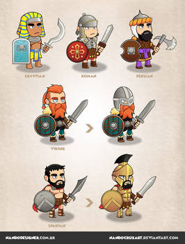 Game characters - civilizations