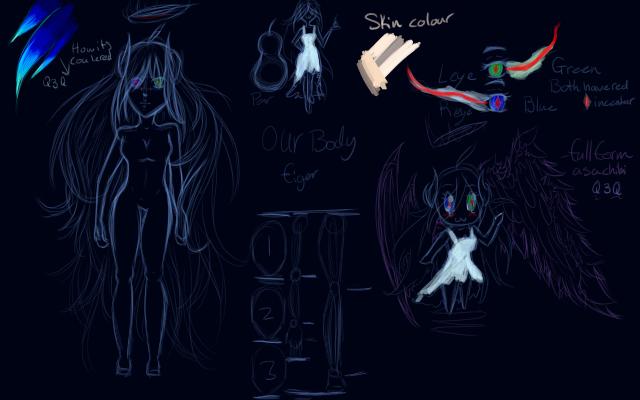 Body Sketch of Us by evapriovolos