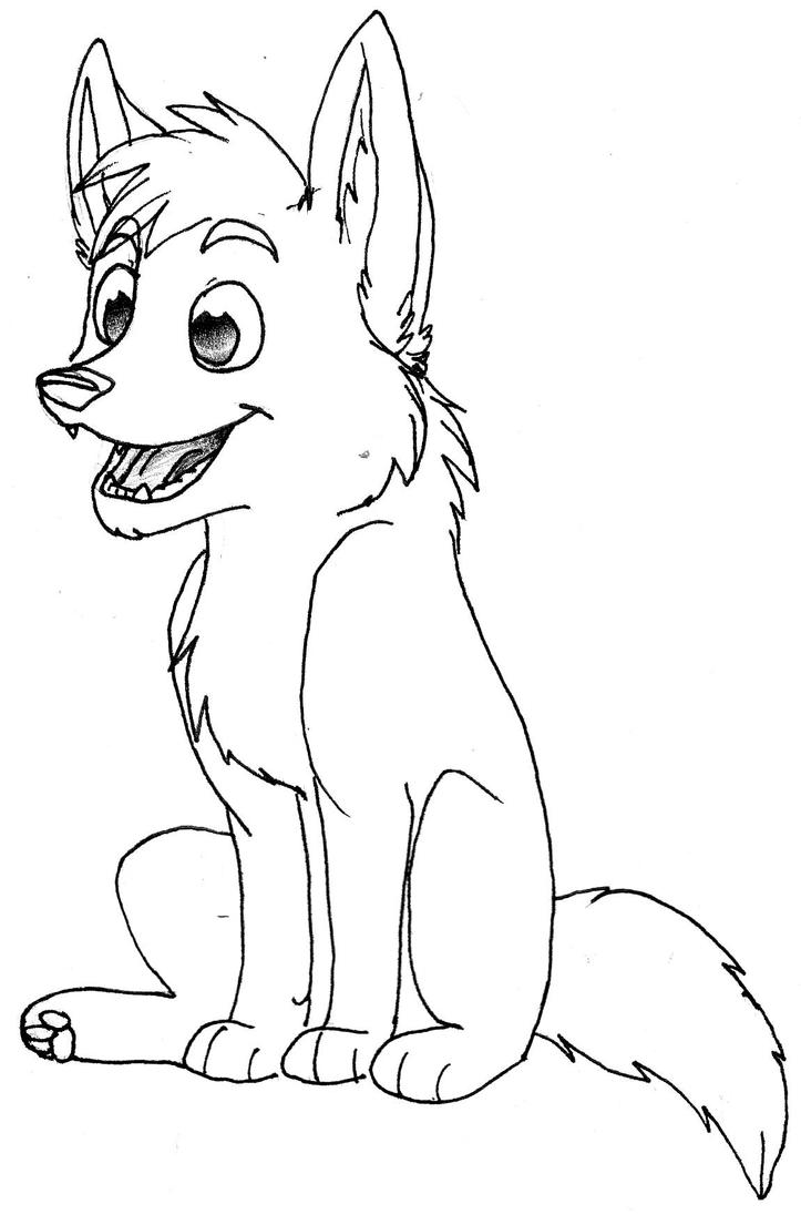 free wolf pup coloring pages - photo#22