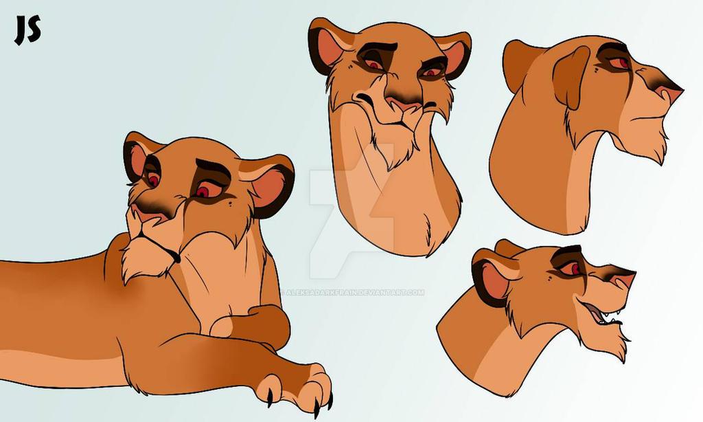 Lioness [Commission] by AleksaDarkFrain
