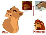 Vita and Kiongozi - children of Simba and Zira
