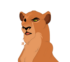 Reina - the daughter of Skar and Sarabi by AleksaDarkFrain