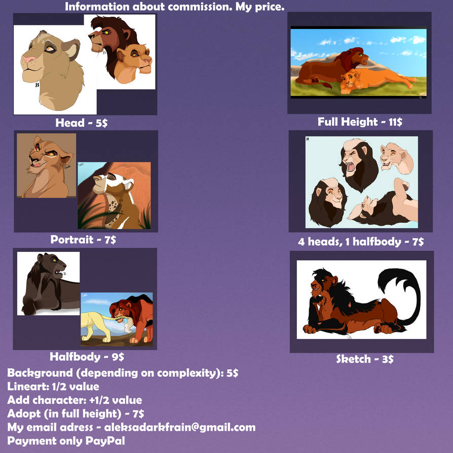 Information about commission