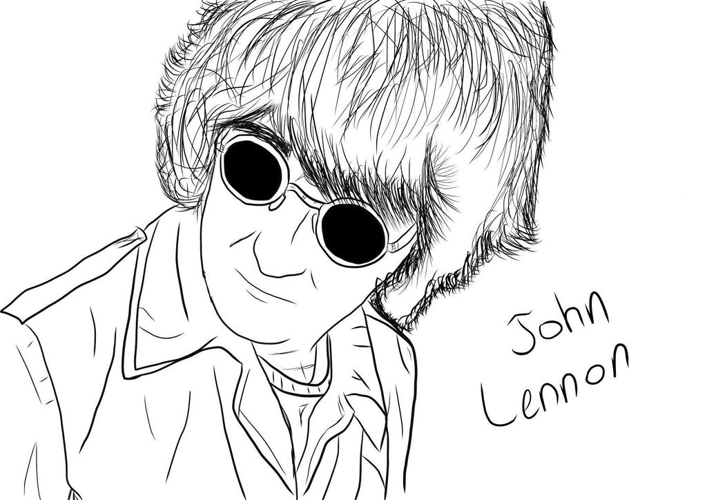 Line Drawing John Lennon : John lennon by ozoneknight on deviantart