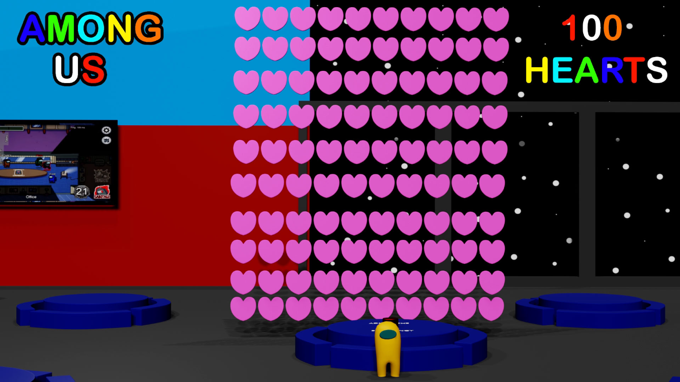 3d Among Us But With 100 Hearts By Playhouse305 On Deviantart