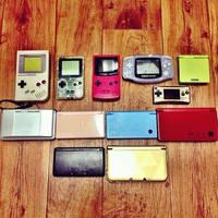 Nintendo Gameboy Family by ExplodedSoda