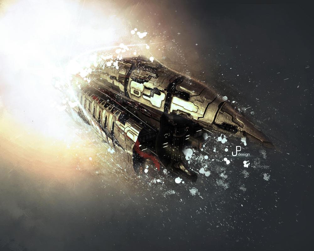 SpaceShip Wallpaper by JoaoPedroPG