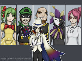Super Paper Mario villains by Aselea