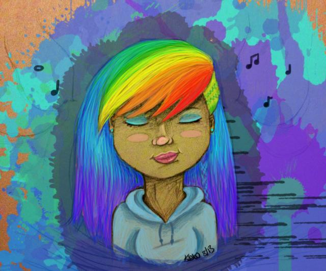 Rainbow Music by dawnwally