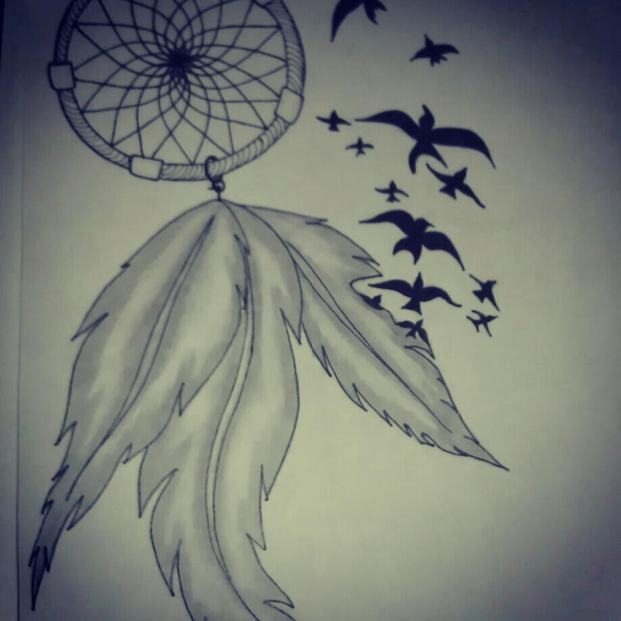 Dream catcher by nicoleadriana19 on deviantart for Dream catcher drawing easy