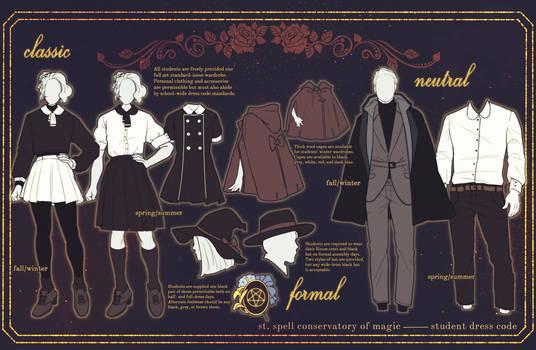 st. spell: student dress code by bennabun