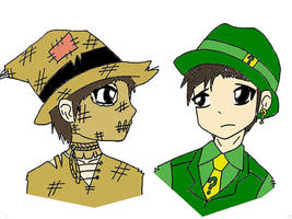 Scarecrow and Riddler? by popjukes1andonly