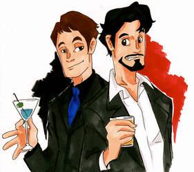 Wayne and Stark by TheEndxTypeANIME